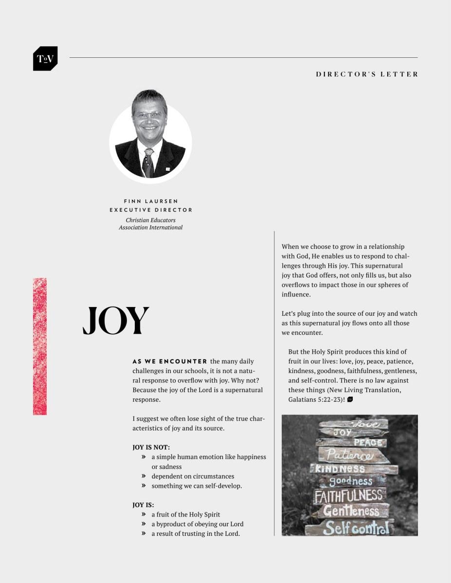 Teachers of Vision Magazine