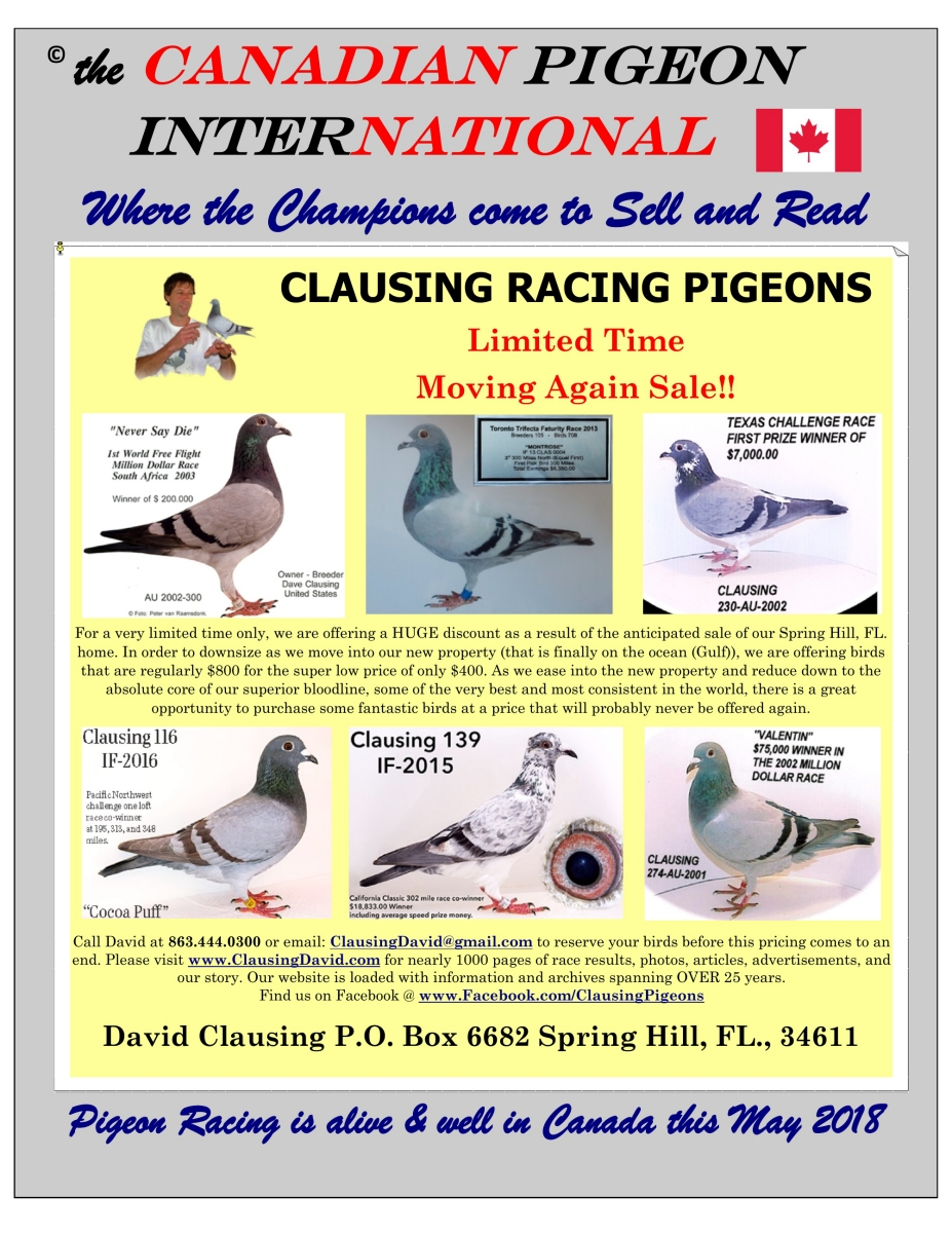 the Canadian Pigeon Internatioanl magazine