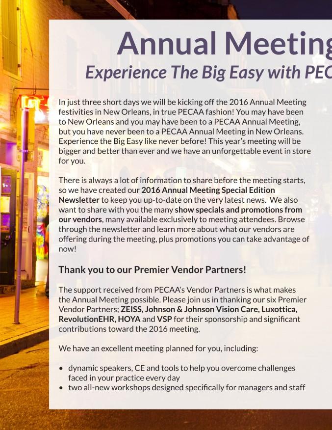 PECAA Newsletter