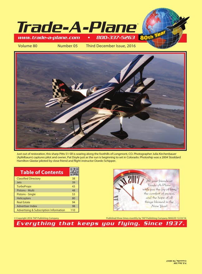 Third December 2016 Digital Edition at Trade-A-Plane