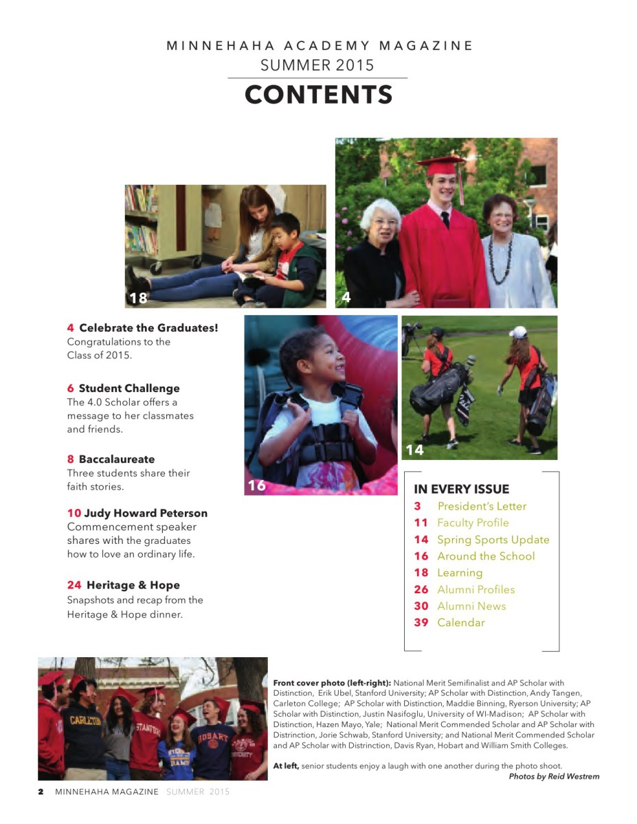 Minnehaha Academy Magazine